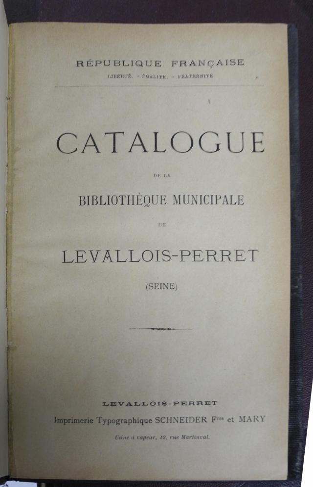 Catalogue bibliothèque 00-2